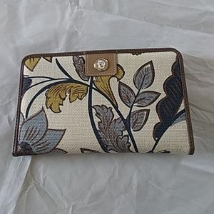 Leather and fabric wallet